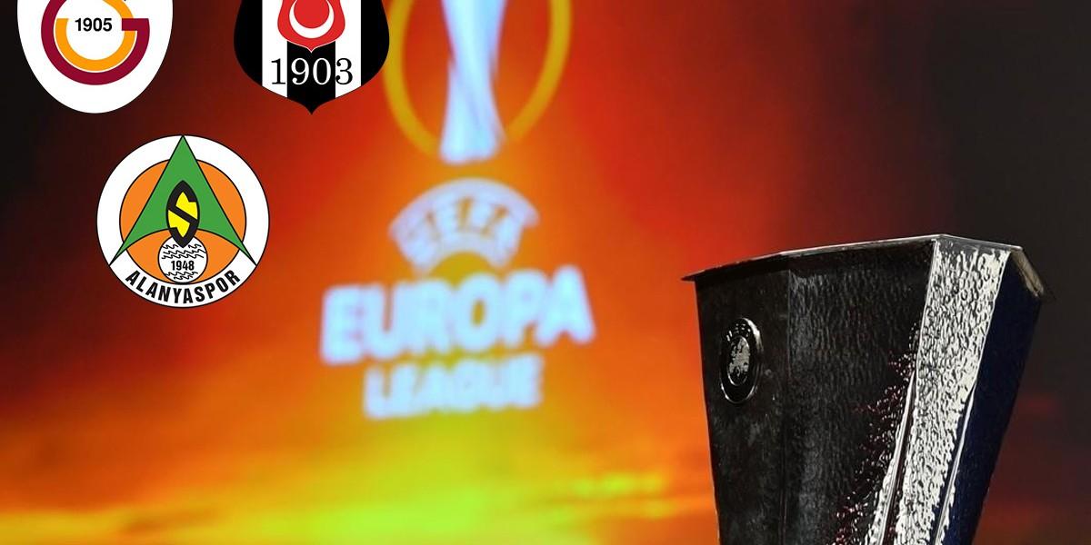 Galatasaray, Beşiktaş ve Alanyaspor'un UEFA Avrupa Ligi ...