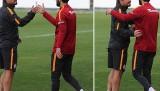 Galatasaray'da kaptan Selçuk İnan antrenmana böyle çıktı