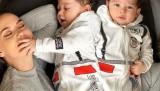 Fahriye Evcen 8 aylık oğlu Karan'ın yüzünü ilk kez gösterdi