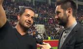TV8 ve NTV Spor maçı öncesi röportajlar