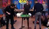 İbrahim Büyükak ve Semih Saygıner canlı yayında bilardo maçı yaptı!