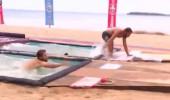 Katamaranda eşsiz bir ödül için mücadele ettiler...