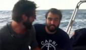 Serkay ve Zafer teknede zor anlar yaşadı!