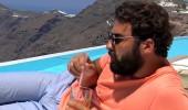 Santorini'nin tadını çıkardılar