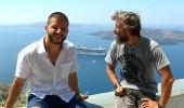 Santorini'de gezi iki ekip için de farklı tecrübeler verdi