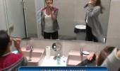 Berna Keklikler ve Serenay banyoda konser verdi!