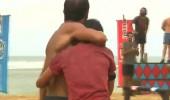 Galibiyet sonrası Serhat, takım arkadaşı Sabriye'ye böyle sarıldı!