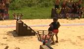 Oyun sırasında iki yarışmacı çarpıştı!