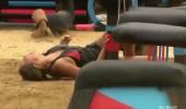 Berna parkurda düştü! Acı içinde yerde kaldı...