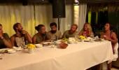 Türk-Yunan takımları birlikte yemek yediler