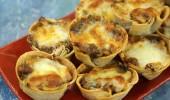 Tortilla Kaselerinde Kremalı Tavuk