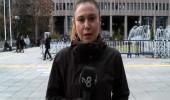 Ankara adliyesi önünden canlı yayın