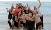 Galibiyeti denizde 'selfie' çekerek kutladılar!