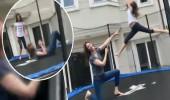 Demet Şener'in kızıyla birlikte trambolin keyfi!