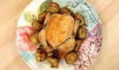 Fırında Ispanaklı Mantarlı Tavuk tarifi...