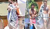 Seren Serengil'in bikiniği paniği! Etekle denize girdi