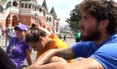 Yarışmacılar Dünya Kupası maçı öncesi Moskova turu yaptı!