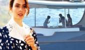 Nil Karaibrahimgil'in teknesinde şoke eden görüntüler!