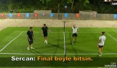 Acun Ilıcalı ile Sercan'ın takımı ayak tenisi maçında karşı karşıya geldi