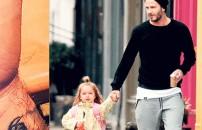Beckham'dan duygulandıran dövme! Kızının çizdiği resmi...