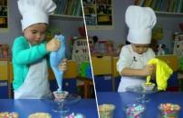 Minik aşçılar iş başında!