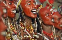 Süslenen erkekler kabilesi Wodaabe