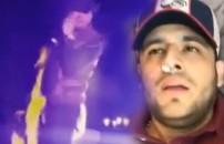 Alev makinesi çalıştı, sahnedeki şarkıcının yüzü yandı