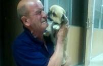 Çalınan köpeği bulundu, gözyaşlarına boğuldu