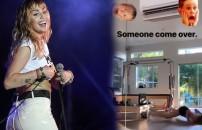 Ünlü şarkıcı Miley Cyrus, kalça show yaptı! İşte o görüntüler