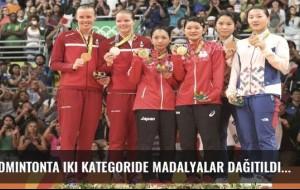 Badmintonta iki kategoride madalyalar dağıtıldı