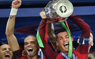 Portekiz kupayı böyle kaldırdı!