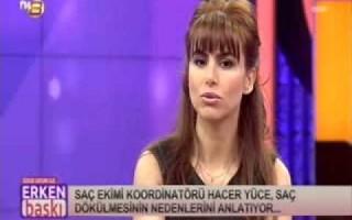 Saç Ekimi Koordinatörü Hacer Yüce ile saç ekimi üzerine konuşuluyor. TV 8 - Erken Baskı