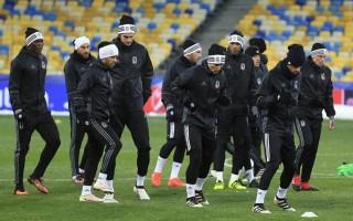 Beşiktaşlı futbolcular Kiev'de dondu!