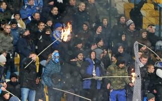 Beşiktaş - Dinamo Kiev maçında büyük olay! Yaralılar var...