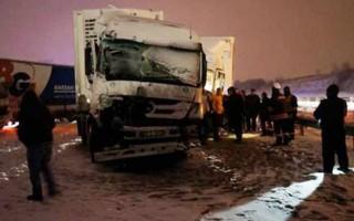 TEM Edirne-İstanbul yönü kapandı