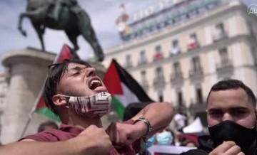 İspanya'da Filistin protestosu!