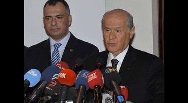 MHP'de 'ses kaydı' toplantısı