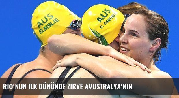 Rio'nun ilk gününde zirve Avustralya'nın