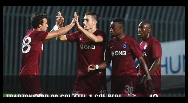 Trabzonspor 20 gol attı, 1 gol yedi