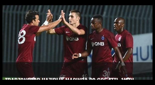 Trabzonspor hazırlık maçında 20 gol attı, 1 gol yedi