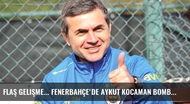 Flaş gelişme... Fenerbahçe'de Aykut Kocaman bombası!
