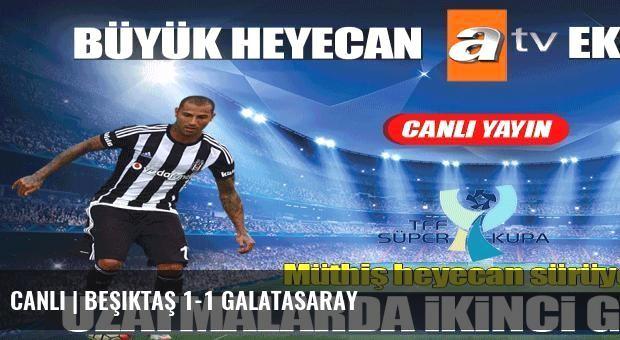 CANLI | Beşiktaş 1-1 Galatasaray