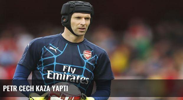 Petr Cech kaza yaptı