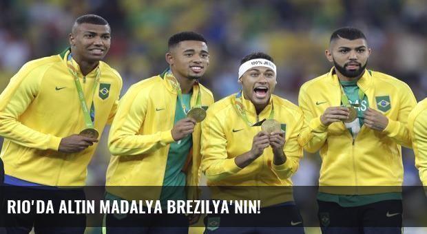 Rio'da altın madalya Brezilya'nın!