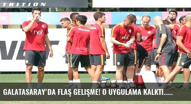 Galatasaray'da flaş gelişme! O uygulama kalktı...