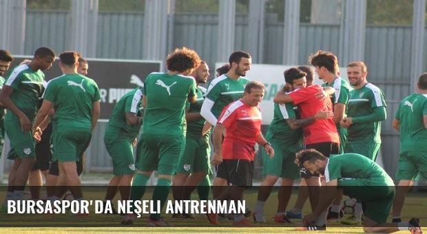 Bursaspor'da neşeli antrenman