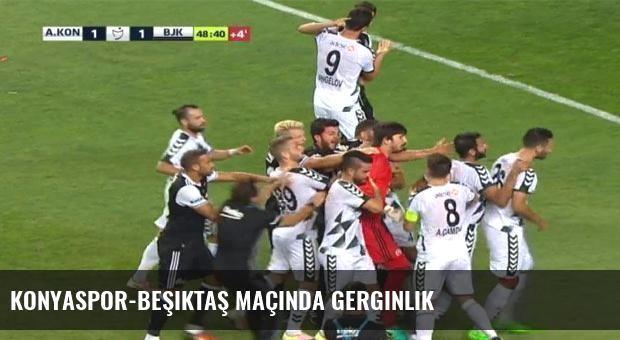 Konyaspor-Beşiktaş maçında gerginlik