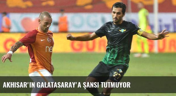 Akhisar'ın Galatasaray'a şansı tutmuyor