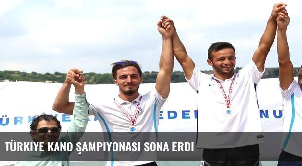 Türkiye Kano Şampiyonası sona erdi