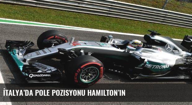 İtalya'da pole pozisyonu Hamilton'ın